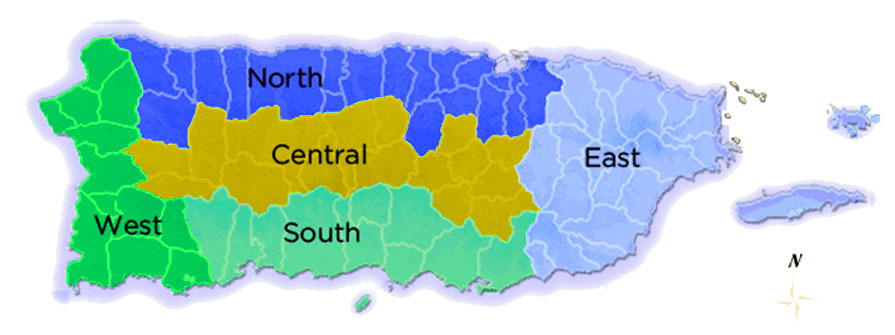 Cities and Towns by Region - Puerto Rico | BoricuaOnline.com
